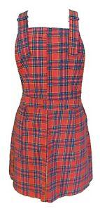 Indie Retro Ladies Red Dress Pinafore Tartan 4HwBa