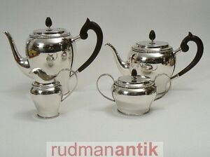 service kaffee tee silber 925 van kempen begeer holland 1320 g neuwertig ebay. Black Bedroom Furniture Sets. Home Design Ideas