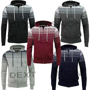 New-Men-039-s-Aztec-Hoodies-Sweatshirt-Top-Jumper-American-Fleece-Plain-S-M-L-XL