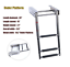 "3-Step Under Platform Boat Boarding Stainless Telescoping Ladder  8-1//4/""x 1-3//4/"""