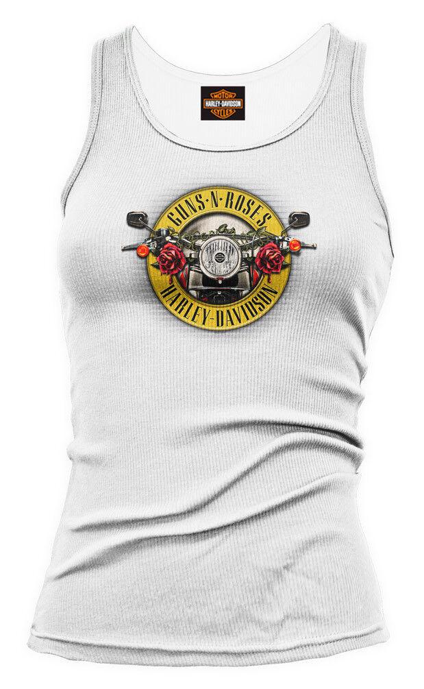 Guns N pinks Harley-Davidson Womens Cover Tank White