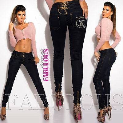 New Women/'s Jeans Size 10 12 14 6 8 XS S M L XL Skinny Leg Hot Stretch Denim