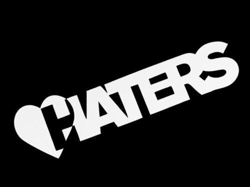 Heart Haters white smallStyle A Vinyl Sticker Decal Race Drift Swag JDM Honda