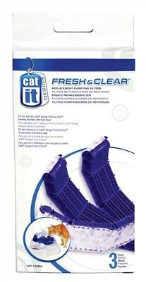 50050 Hospitable Catit Carbon Cartridge 3pk Fresh & Clear Purifying Filter Cat Fountain