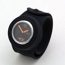 Tick TOK Nero schiaffo Bandz schiaffo sull'orologio da polso-Linea Uomo Donna Ragazzi e Ragazze