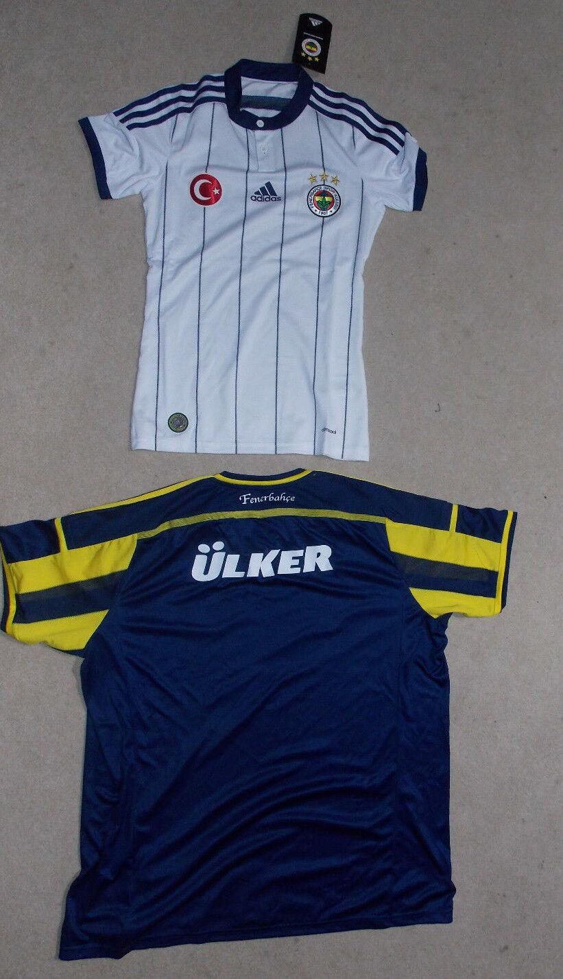 Fenerbahce Istanbul adidas Trikot H78977 in yellow blue + H78978 in weiss  Gr. M