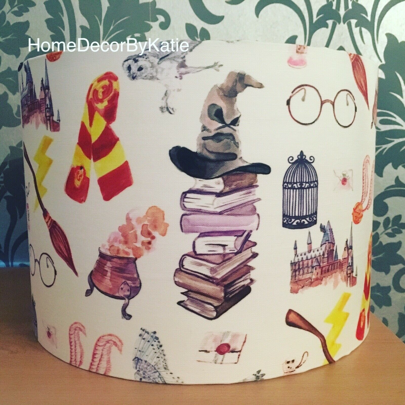 Handmade Harry Potter Lampshade Hogwarts wizard Lightshade Nursery