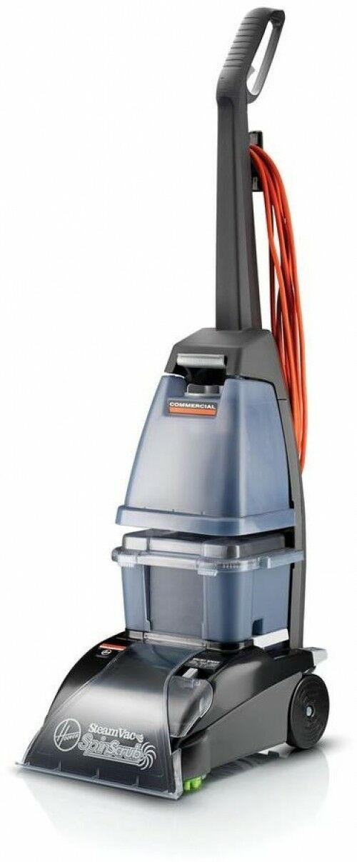 Hoover Commercial Steam Vac Carpet Cleaner Shampooer Cleaning Upright Scrubs