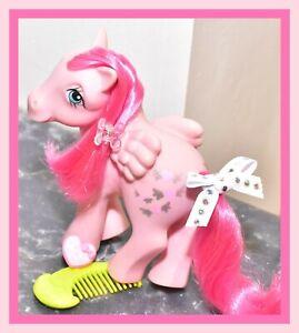 My-Little-Pony-MLP-G1-Vtg-1984-Heart-Throb-Pink-Pegasus-Hearts-Original-Comb