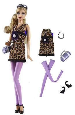 3in1 Set Outfit Leopard Dress+Boots+Bag FOR 11.5in.Doll Clothes Girl Gift