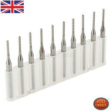 10 x SMT/CNC Machinery Carbide End Mill Engraving Bits Cutter 1.4mm