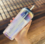 thumbnail 1 - New-Starbucks-Holiday-2020-Iridescent-Glass-18oz-Cold-Cup-Tumbler-Straw