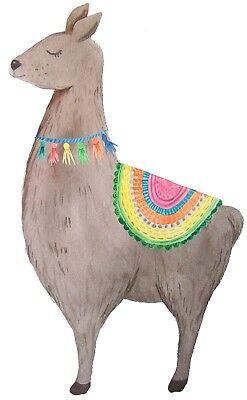 Llama sticker //// die-cut decal //// watercolour bullet journal planner decal art