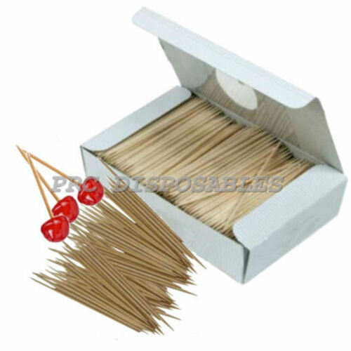 10000 Cocktail Sticks Wooden ToothpicksFood Cherry Olives Pub Bar Equipment