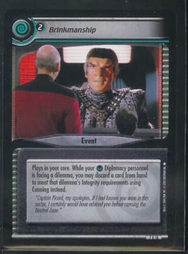 Star Trek CCG 2E SNW RARE Brinkmanship 7R18 NM//M