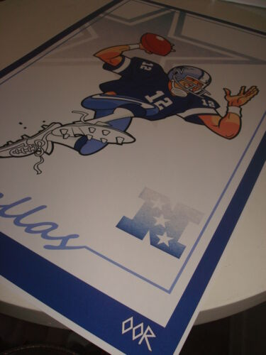 QB Staubach poster print Dallas Cowboys Vtg