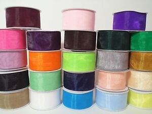 "1 1/2"" Sheer Organza Ribbon - 25 Yards"