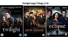 TWILIGHT TRILOGY Collection Part 1 2 3 (2011)  Robert Pattinson NEW UK R2 DVD