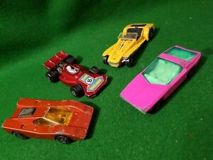 4x-Matchbox-1970s-superfast-3-Diecast-lesney-cars-vintage-toy