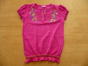 t-shirt-brode-LC-WAIKIKI-taille-7-8-Ans-haut-style-blouse-rose-fuchsia-fille