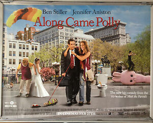 Cinema Poster Along Came Polly 2004 Group Quad Jennifer Aniston Ben Stiller Ebay