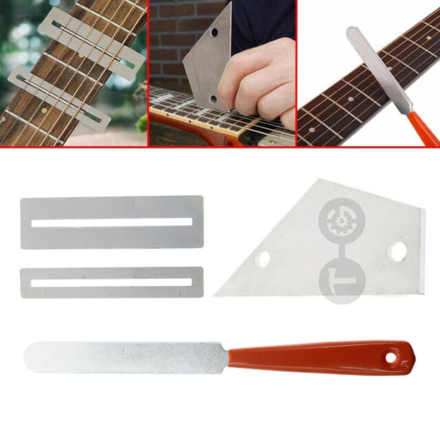 Grinding Cleaning Polish Tools Acoustic Guitar File Set Accessories Electric Fingerboard Protectors Fret Rocker Repairing Stringed Instruments Sports & Entertainment