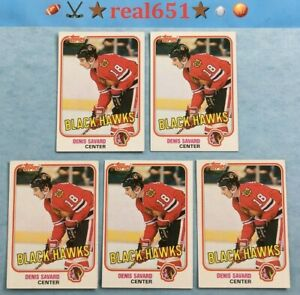 1981-O-Pee-Chee-Topps-DENIS-SAVARD-Rookie-Vintage-Lot-x-93-Chicago-HOF-Batch