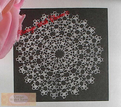 7 inches Finished Size approx Vintage Doily Tatting Pattern /'Enchanting/'