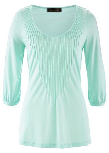 Stylé Jersey Shirt avec détails dans pastellmint-Taille 36//38-m369-912116