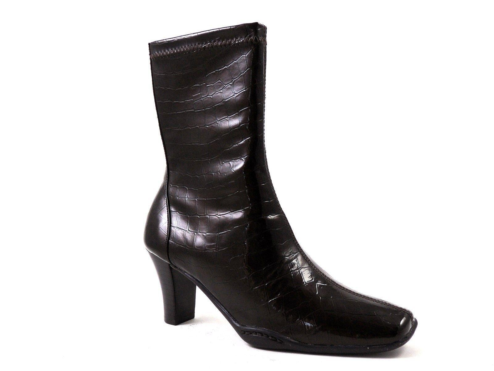 Aerosoles Aerosoles Aerosoles Cinsual Mujer mitad de la Pantorrilla botas Marrón Oscuro Impresión Croco Talla 5.5 M  sin mínimo