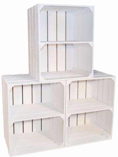 3 X Nouveau Blanc étagère à chaussures boîte avec moyens PLANCHE travers arriveraient caisse à vin