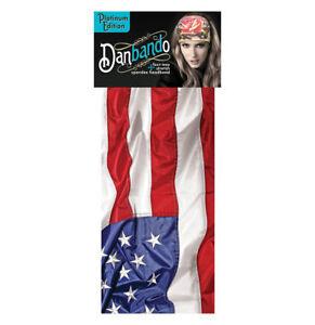 Patriotic USA American Flag Danbando Spandex Biker Headband Bandanna Head Wrap