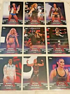 WWE-Topps-Women-039-s-Division-2018-Royal-Rumble-Inserts-20-off-3-Cards
