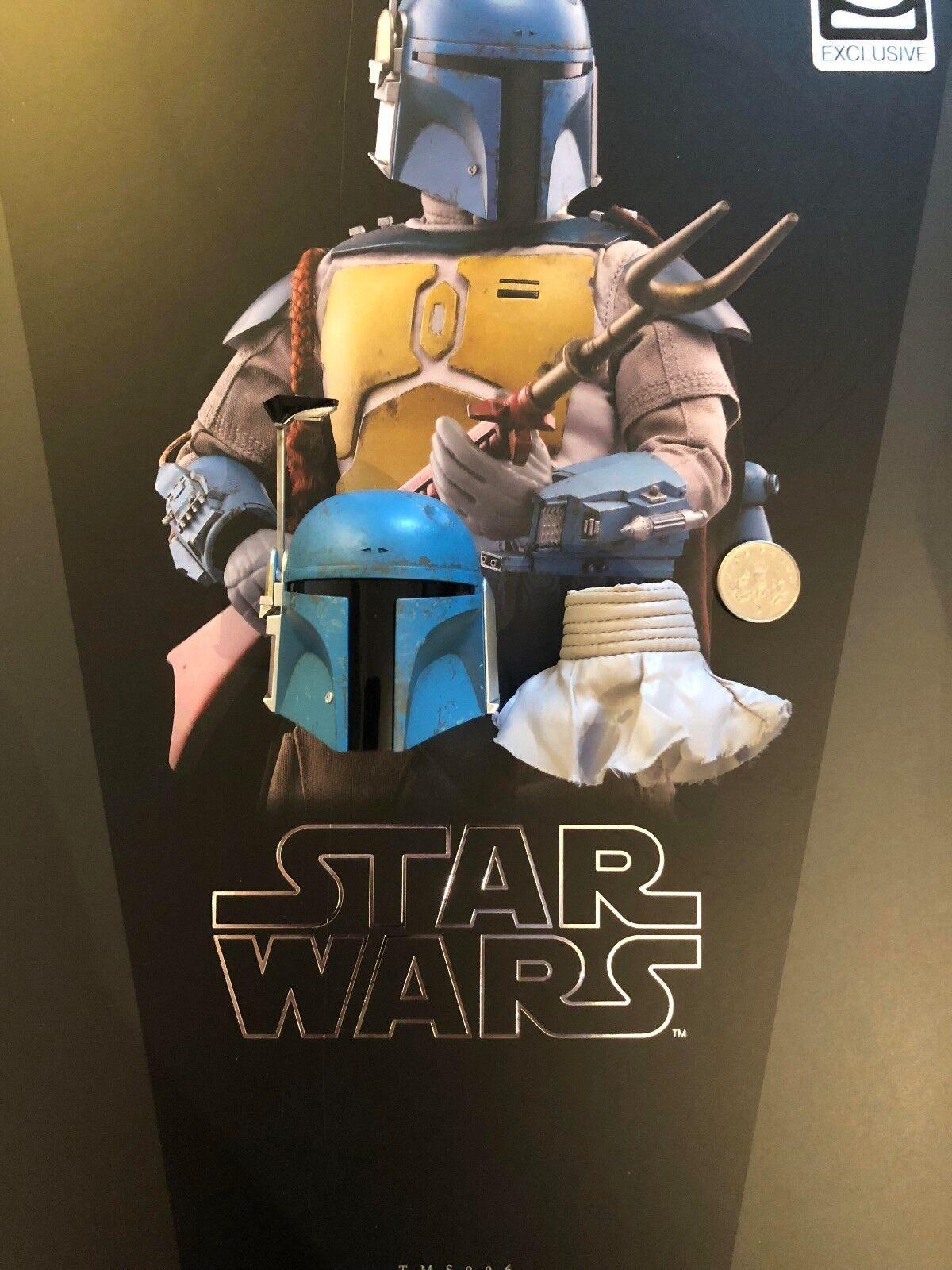 Hot Juguetes Star Wars Boba Fett Animado casco esculpir Suelto Escala 1 6th