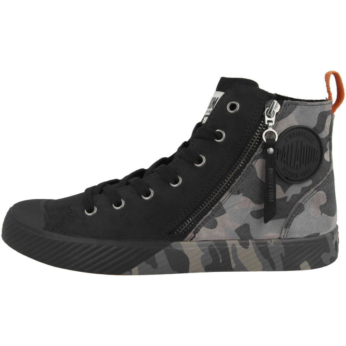 Palladium pallaphoenix Z camo zapatos High Top mujer cortos negro 75949-929