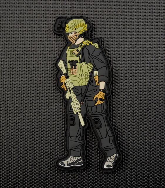 SAS CRW Assaulter 3D PVC Patch 22 Special Air Service King Of Jordan Hereford