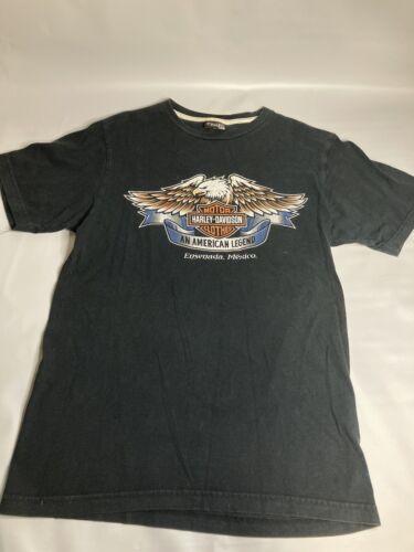 Harley Davidson Mens Black T Shirt Volco Ensenada