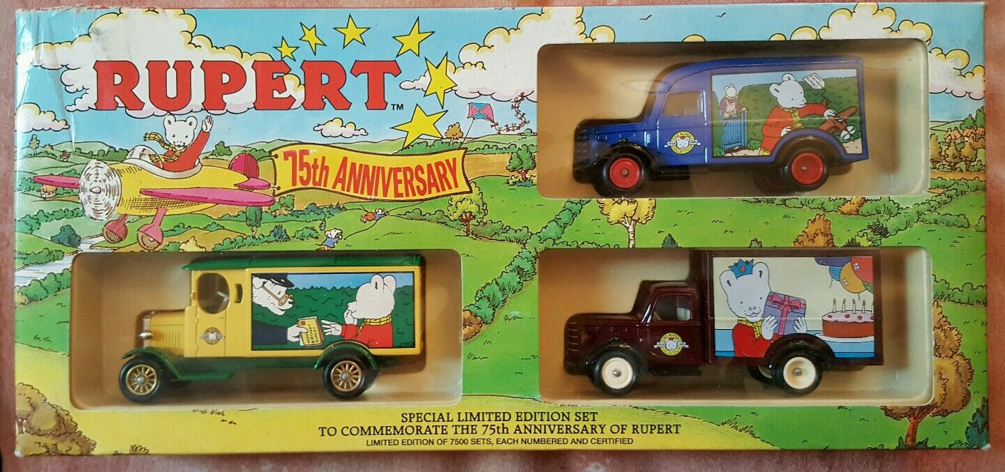 Lledo The Rupert Collection 75th Anniversary Special Limited Edition set of 3