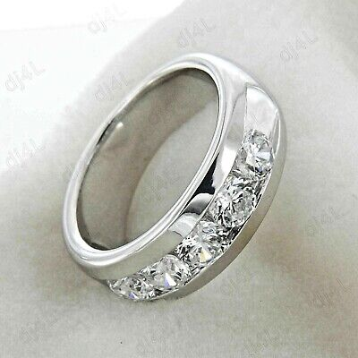 2.50 Ct Round cut Diamond Five Stone Men/'s Wedding Band Ring 925 Sterling Silver