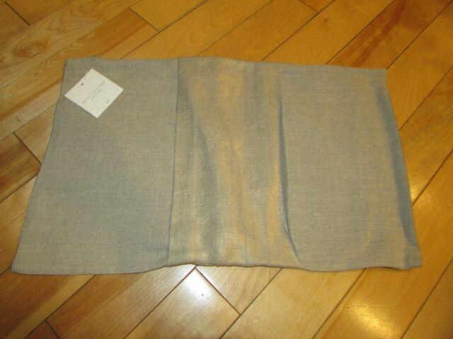 Restoration Hardware Metallic 40 Linen Pillow Cover Gold 40x40 Cool 13x21 Pillow Insert