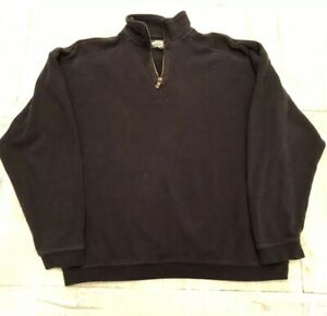 TOMMY-BAHAMA-Relax-MENS-Black-1-4-Zip-Pullover-Sweater-Extra-Large