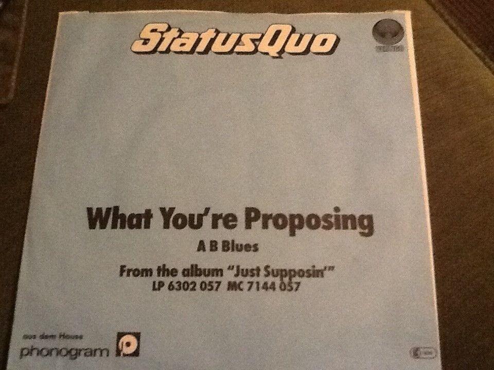 Single, Status Quo, Wat You're Proposing