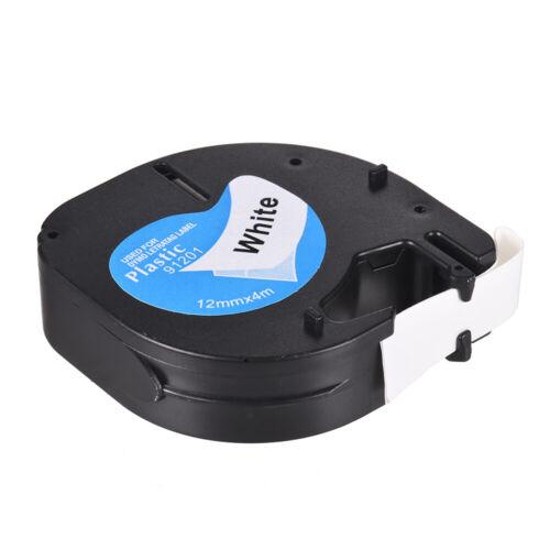 Dymo Letratag Band Kassette Etiketten Paper White Plastic Tape 12mmx4m 1//2 W1T9