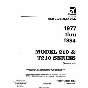 cessna 210 t210 series service maintenance manual ebay rh ebay com cessna 210 maintenance manual cessna 210 owners manual