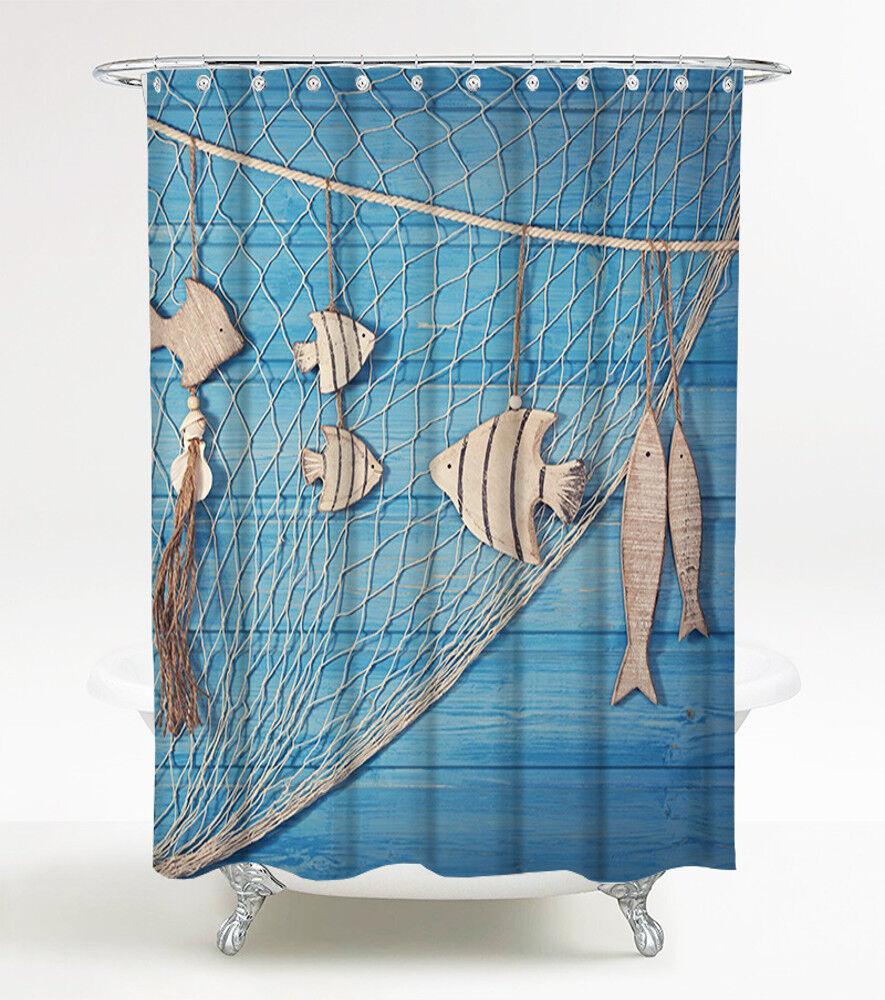 duschvorhang anti schimmel effekt textil wannenvorhang badewannenvorhang ocean ebay. Black Bedroom Furniture Sets. Home Design Ideas