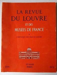 Capable La Revue Du Louvre Et Des Musées De France N°2 De 1971 Attrayant Et Durable