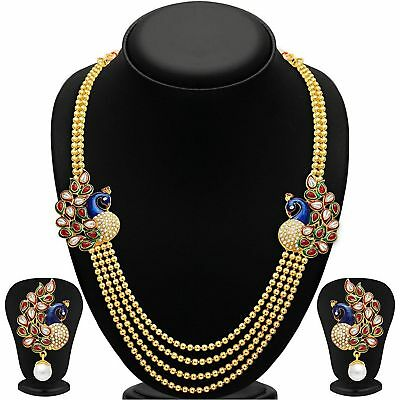 Engagement & Wedding Hearty Women Bollywood Jewelry Necklace Earrings Set