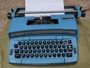 Vintage Smith Corona Coronet Super 12 Blue Typewriter Electric Works Tested