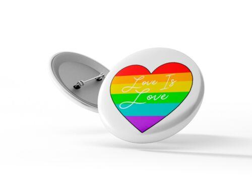 25mm Pin Badge LGBT 4 Badges Love Wins Gay Pride Badge Pack Love Is Love