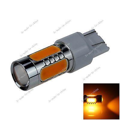 1X Yellow 7443 7440 5 COB LED 7.5W Turn Signal Rear Light Bulb DC 12-24V G011